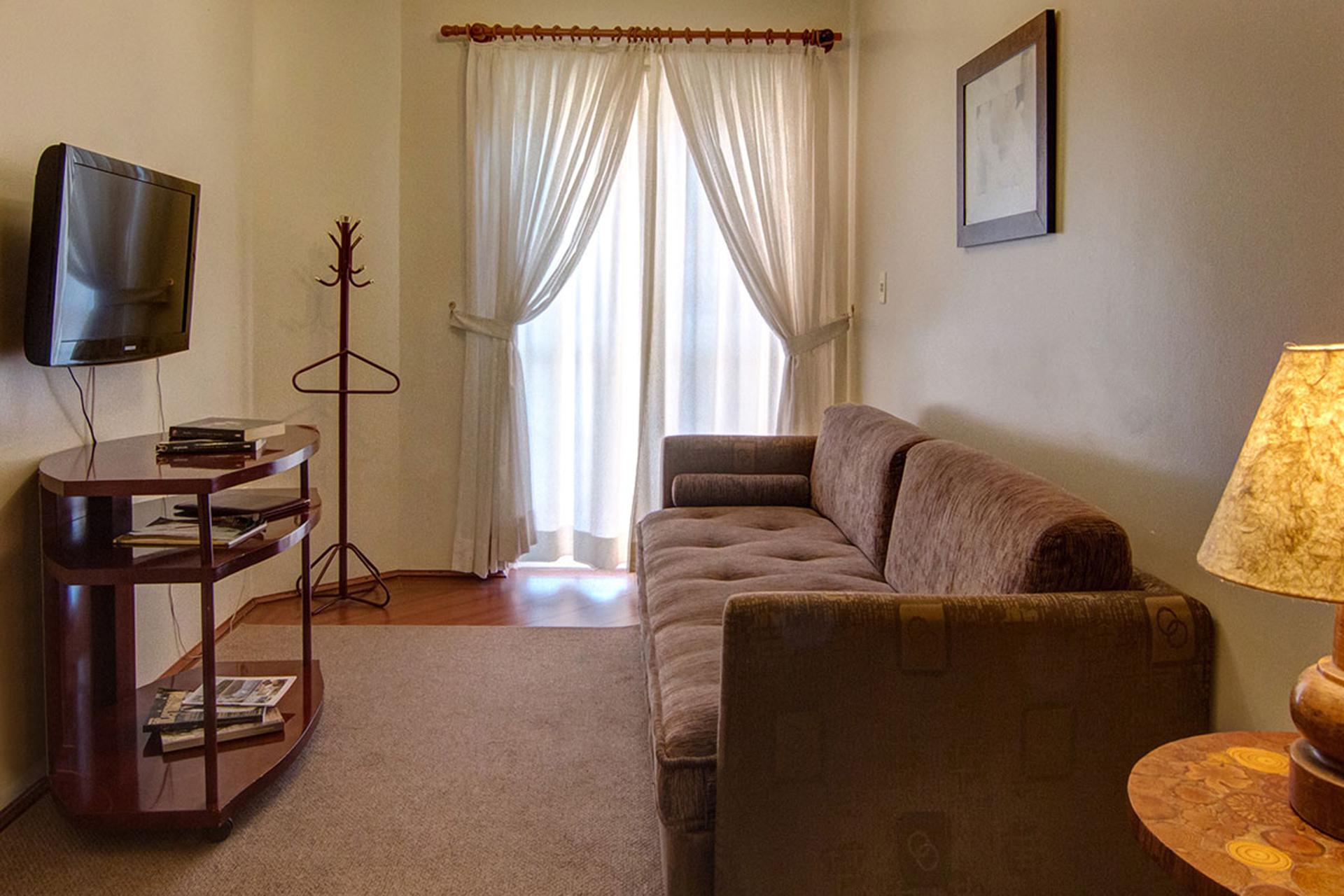 Sala do Apartamento Flat Hotel Palazzo Reale