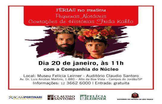 Férias no Museu traz contação de história sobre Frida Kahlo