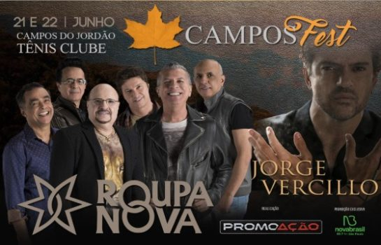 Campos Fest recebe Jorge Vercillo e Roupa Nova