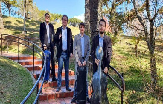 Quarteto toca Música Clássica na Praça neste sábado em Campos do Jordão