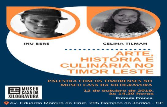 Palestra com os Timorenses Inu Bere e Celina Tilman